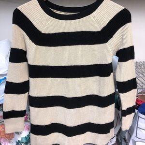 Black and white striped LOFT sweater